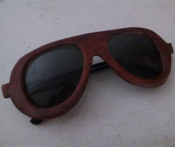Handmade Wooden Aviator Sunglasses  (no-laser Cutter)
