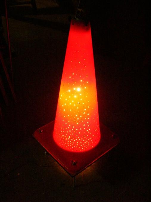 Traffic Cone Lamp