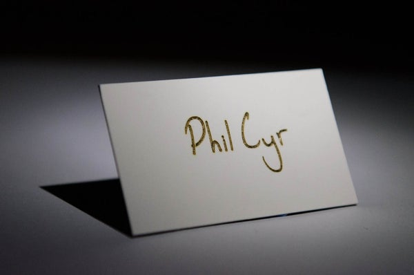 Embossed Foil Name Cards