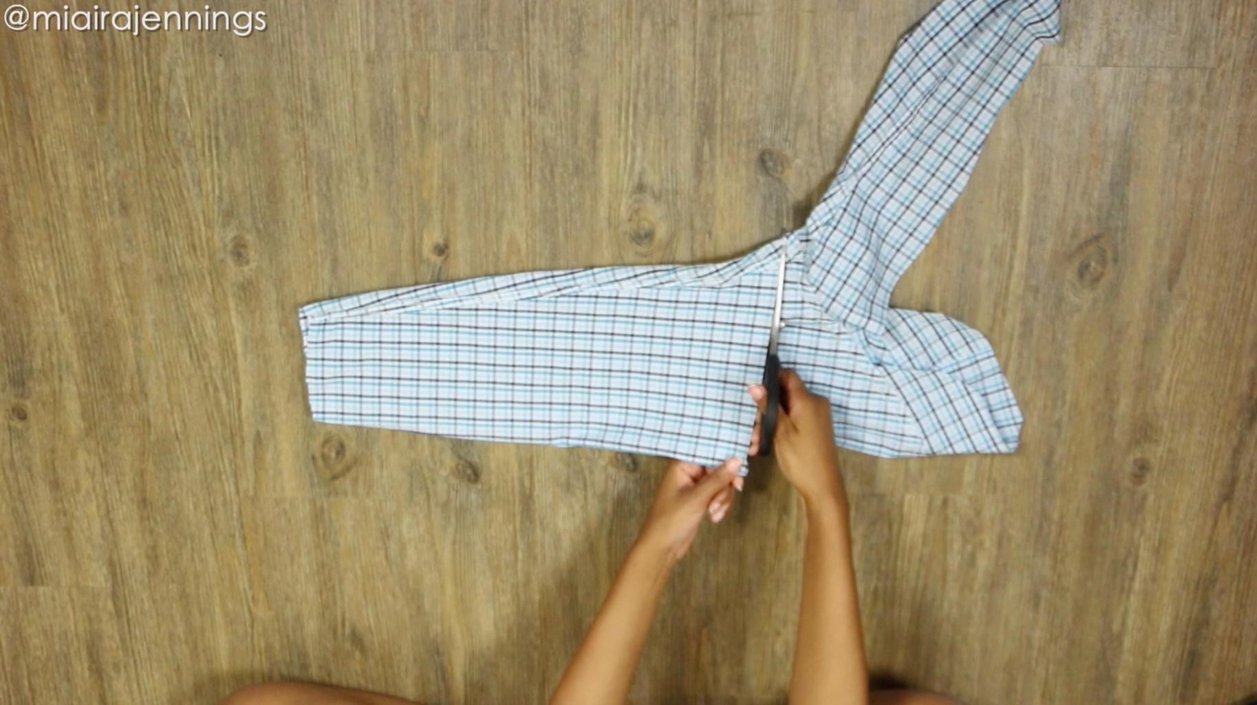 Cut Sleeve to Create Tie Belt
