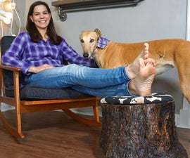 DIY Stump Foot Rest With Hidden Compartment