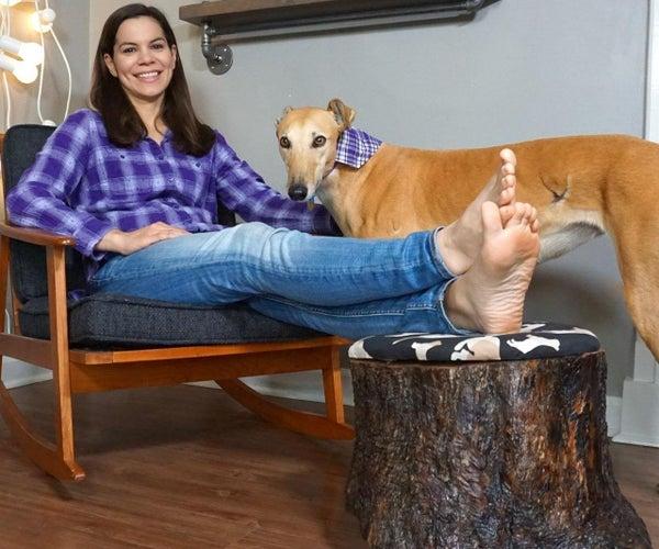 DIY树桩脚休息用隐藏的舱室