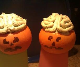 """Eat My Brains"" Pumpkin Cupcakes"