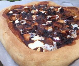 蓝莓BBQ培根山羊奶酪披萨