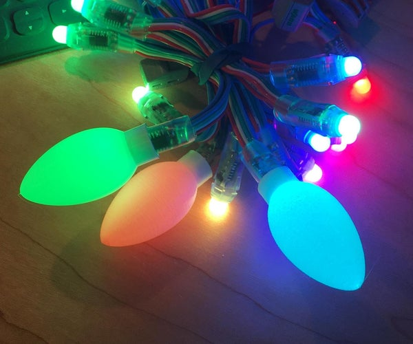 NeoPixel Frosted C9 Diffusers for Christmas Lights