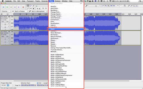 Select and Invert the Bottom Track
