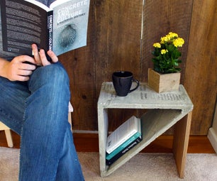 Hardcover-- Concrete End Table