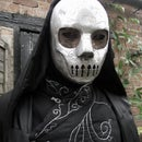 """Harry Potter Death Eater Costume, with """"Magic"""" Wand"""
