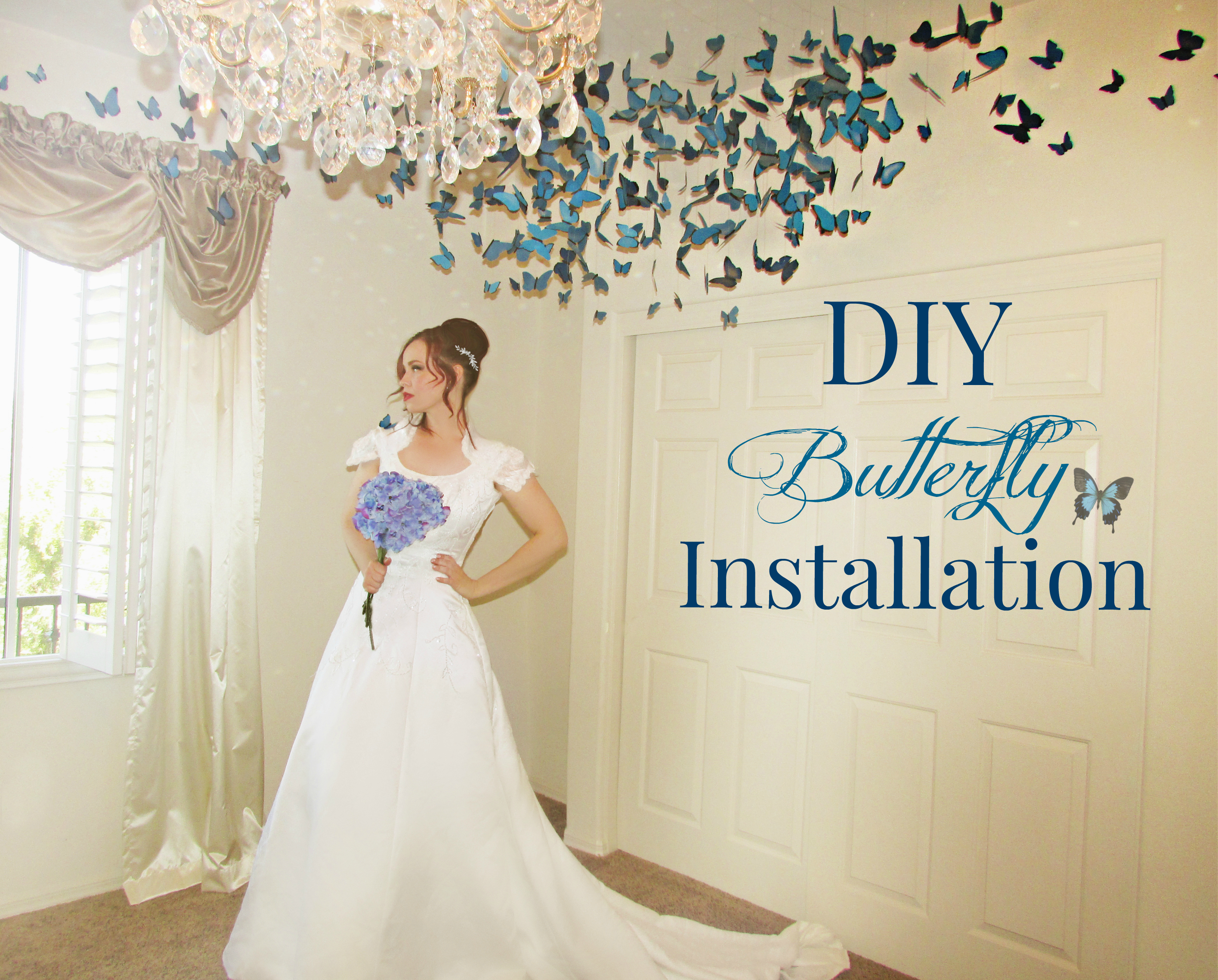 DIY Butterfly Installation  (Wedding Decor)