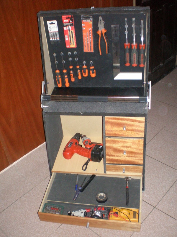 Toolbox With Magnetic Panel