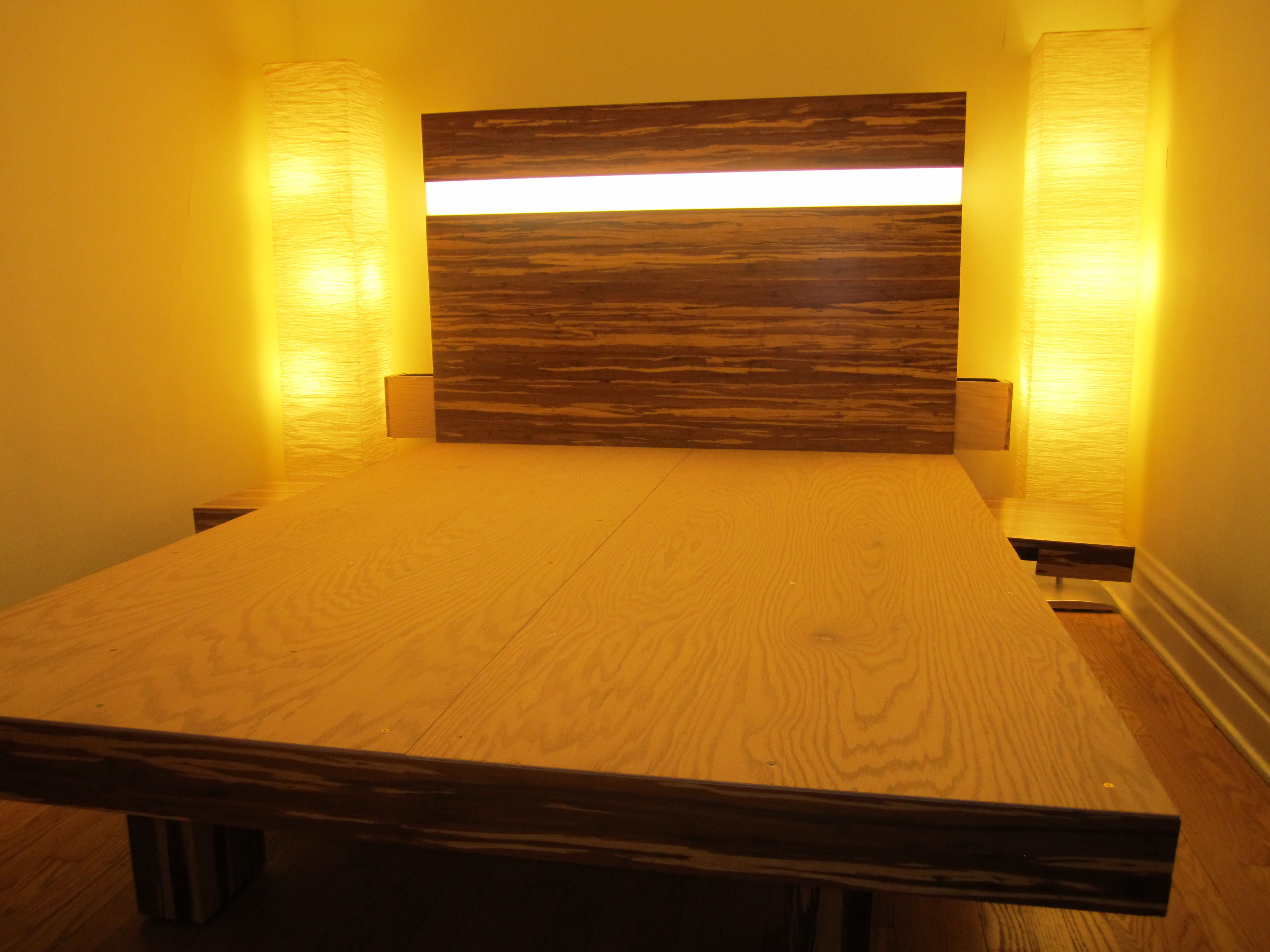 Picture of: Bamboo Flooring Platform Bed 5 Steps Instructables
