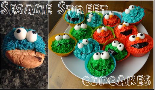 DIY Sesame Street Cupcakes