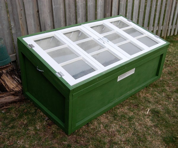 Build a Cold Frame Using Old Windows