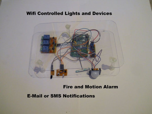 Phone Controlled Home Automation Via Wifi