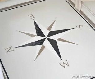 DIY Renter-friendly Old Vinyl Floor Makeover
