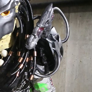Mounting Backpack With Plasma Cannon on the Left Shoulder