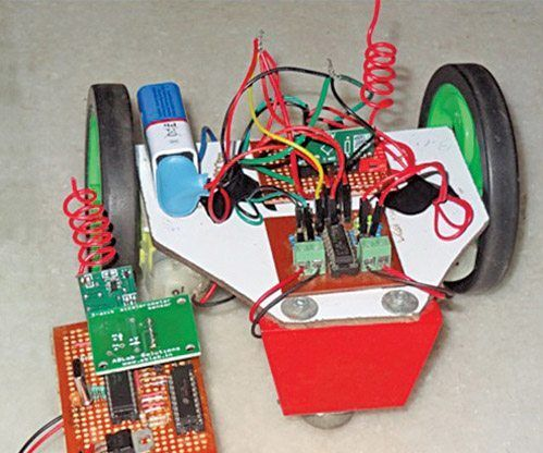 Wireless Gesture Controlled Robot Using Micro-controller ATmega328