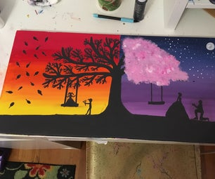 How to Paint a Half and Half Tree Landscape