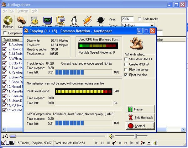 Converting Audio CDs Into MP3s