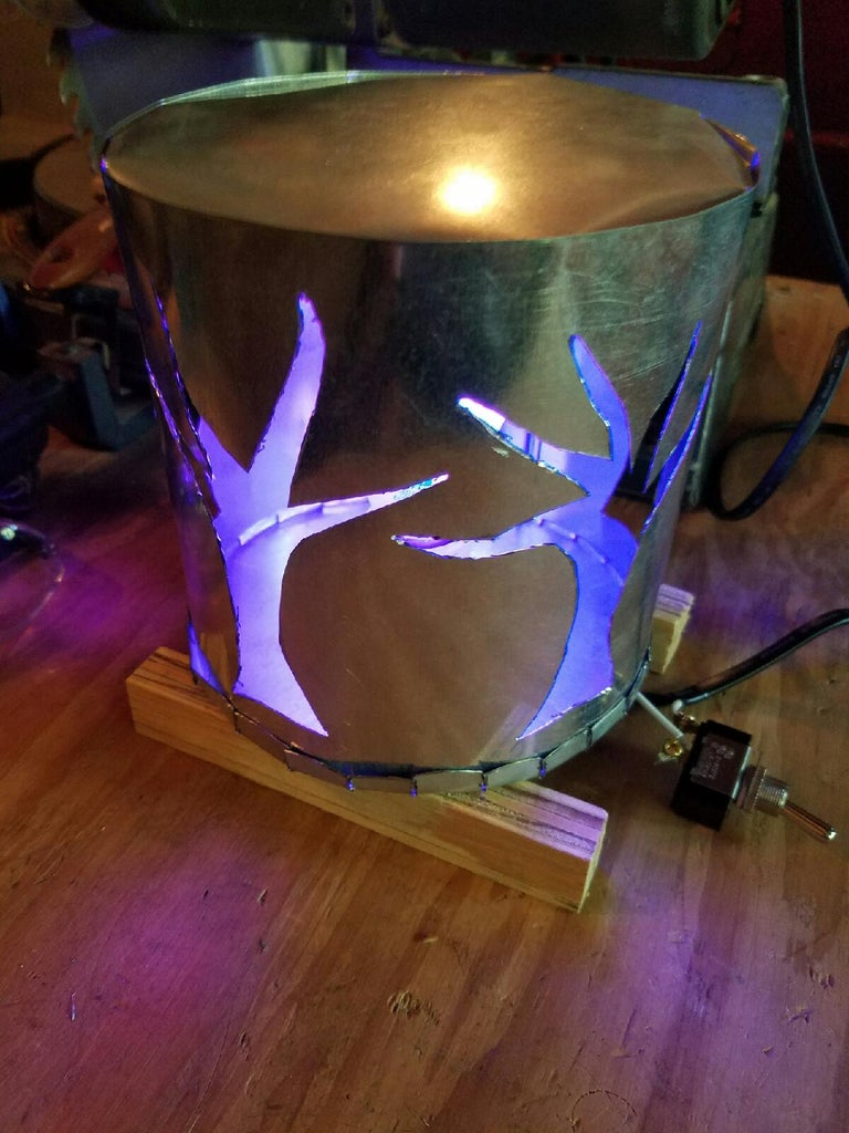 Cheap LED Color Changing Halloween Lamp Made Only From Sheet Metal