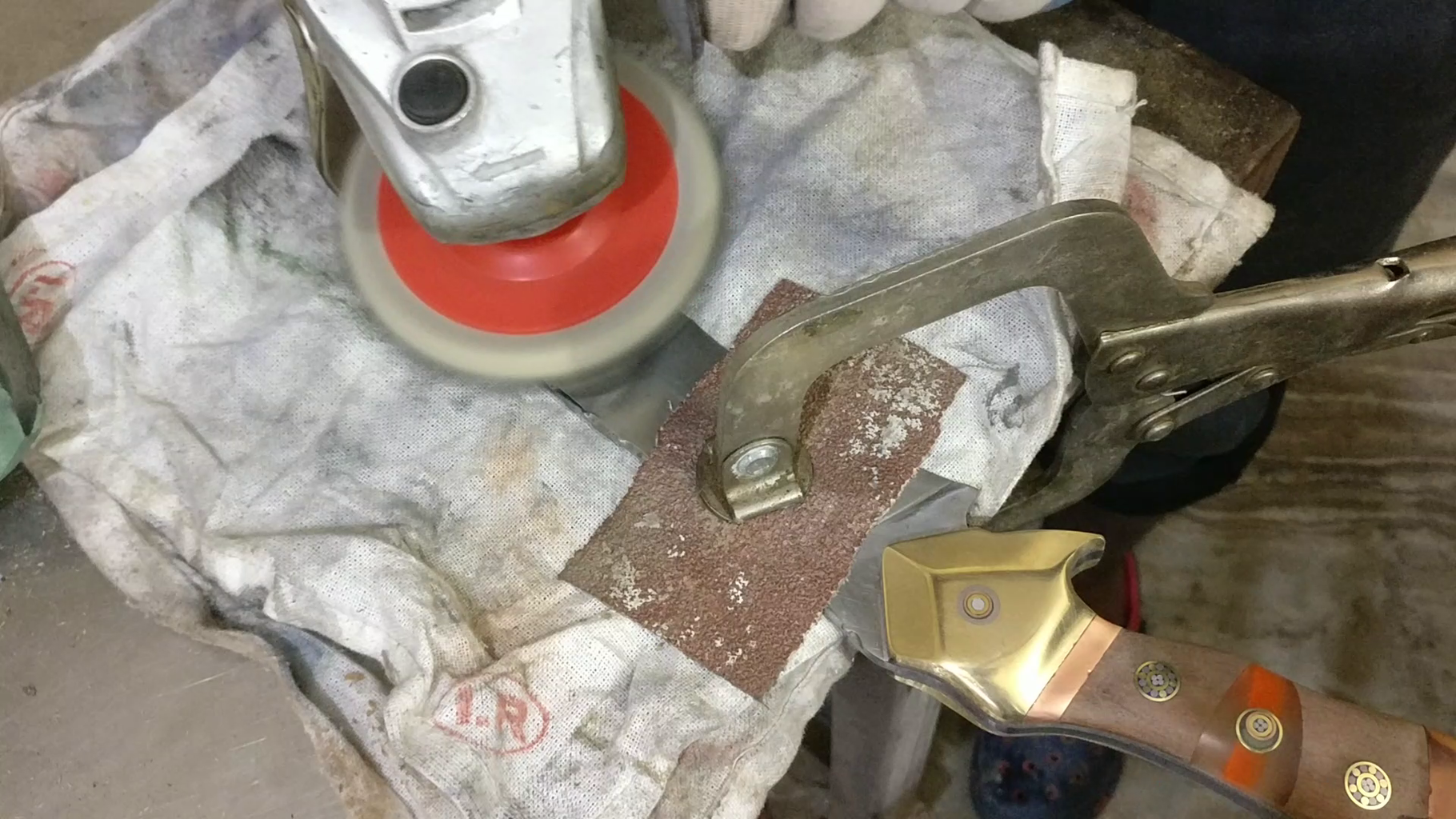 Buffing and Finishing  the Knife.