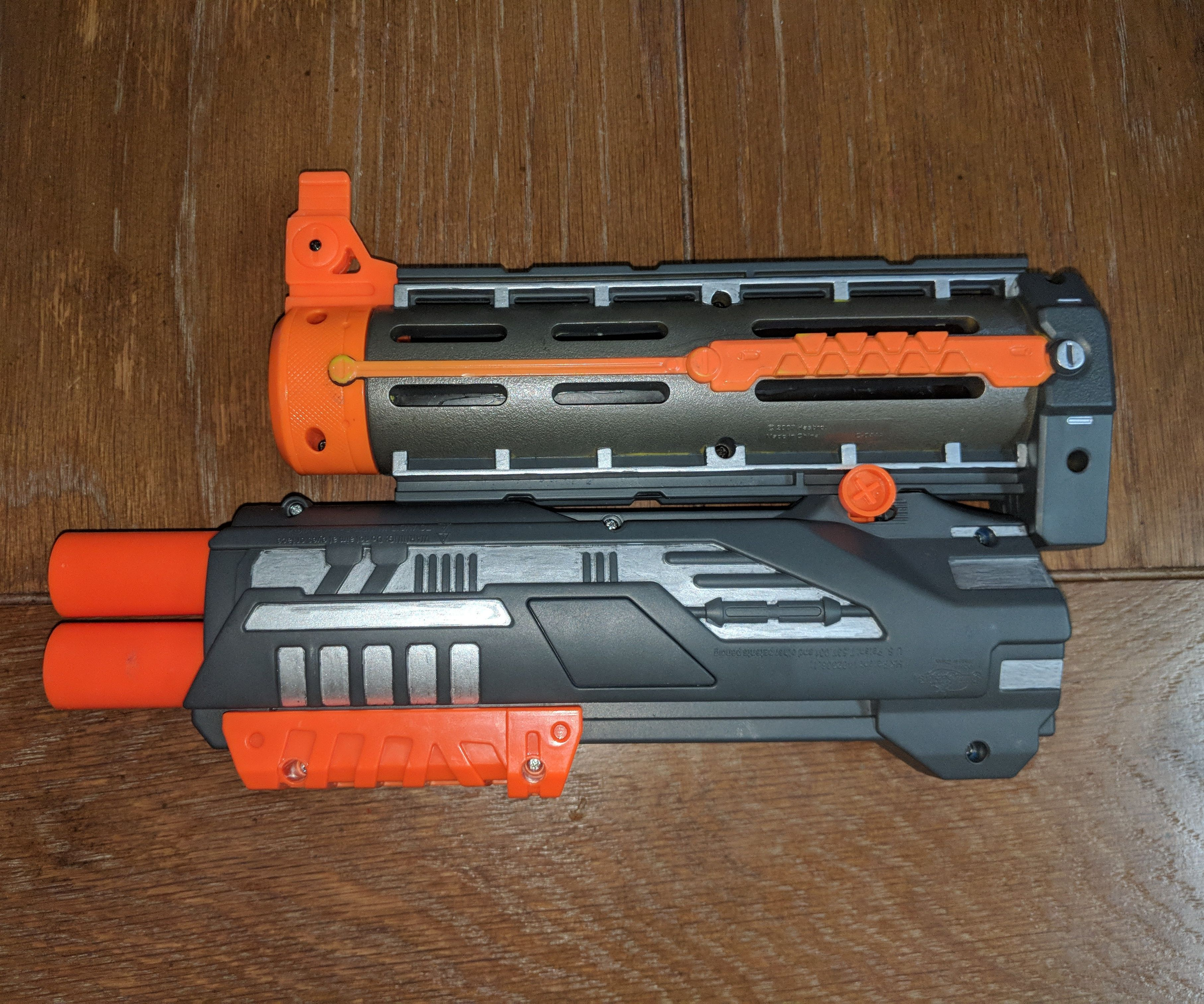 Nerf Barrel Attachment With Under-mounted Mega Blaster
