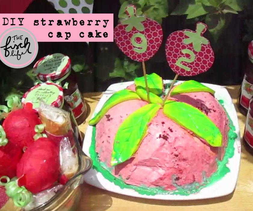 Strawberry Cap Cake