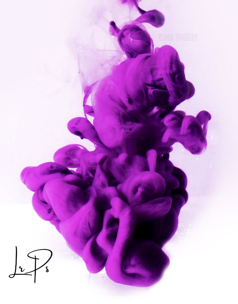 High Speed Coloured Ink Plume Photography