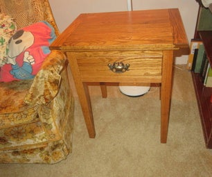 Oak End Table With 3 Hidden Compartments
