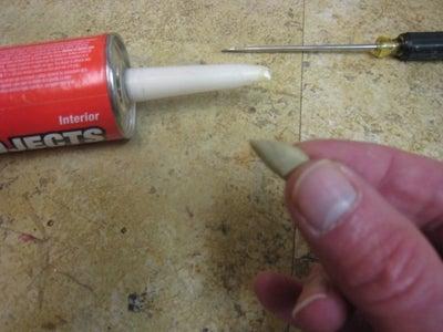 How to Reseal Open Caulk/Adhesive/Silicon Tube