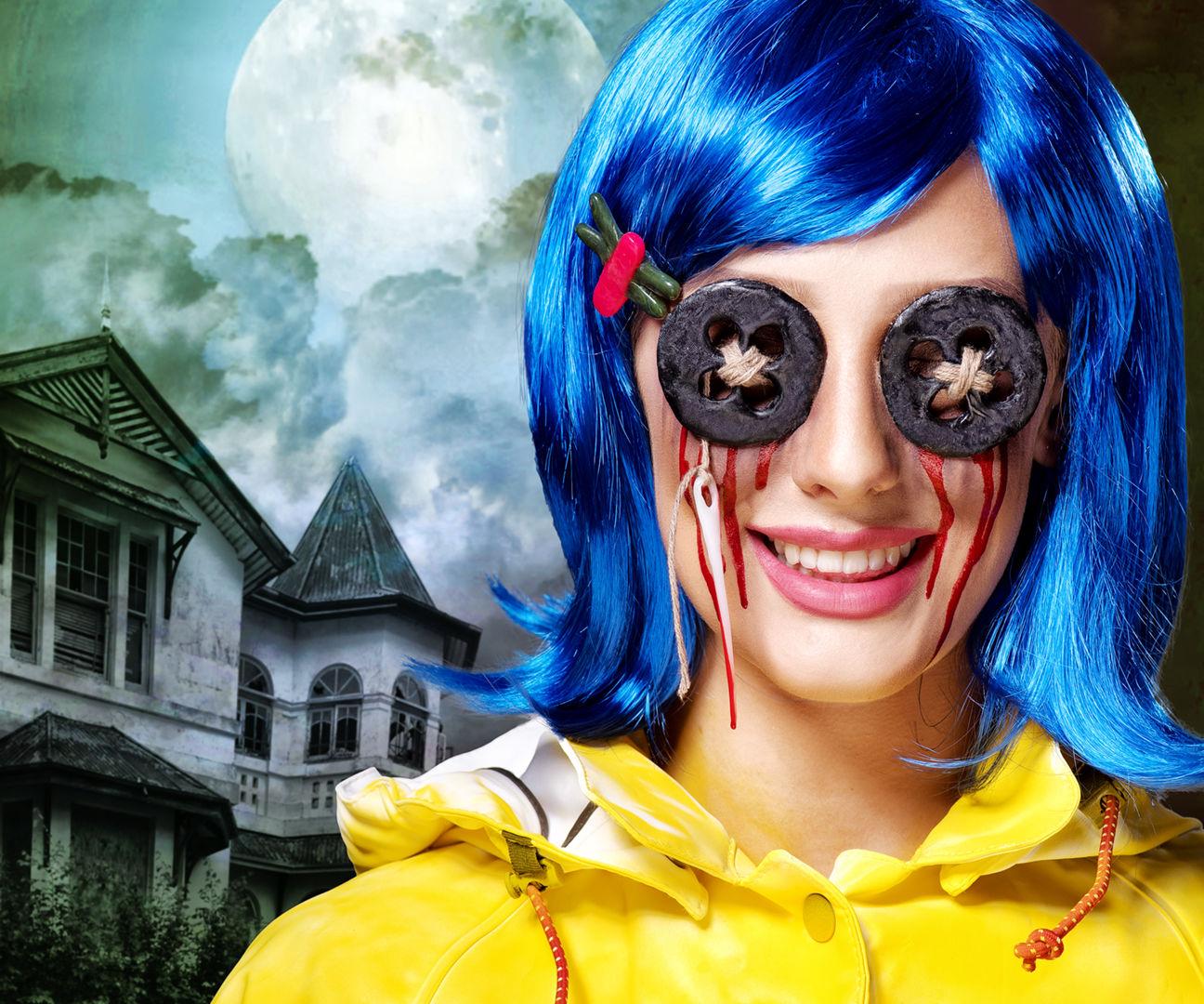 Watch this Coraline Halloween Tutorial Video!