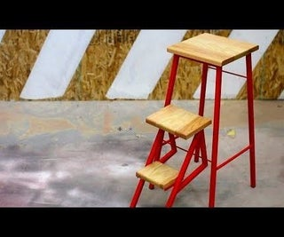 A Stool With Flip Out Steps