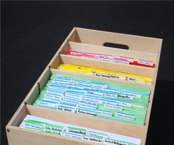 Build a stakable GTD Reference Filing Cabinet