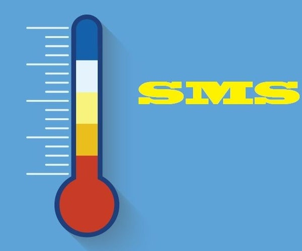 Temperature Monitor Using SMS