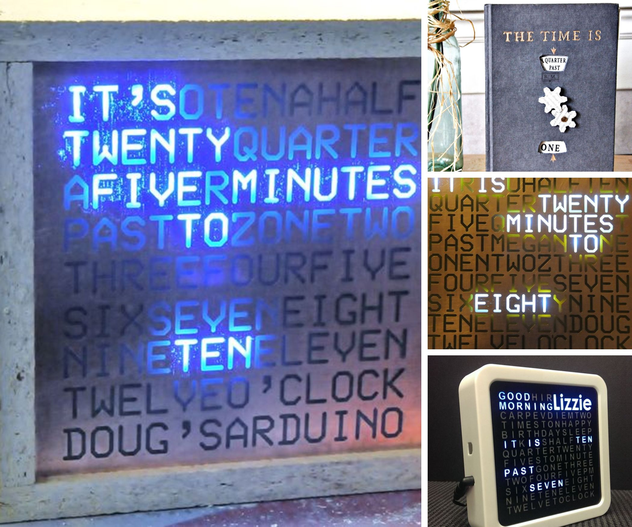 14 Spectacular Word Clocks