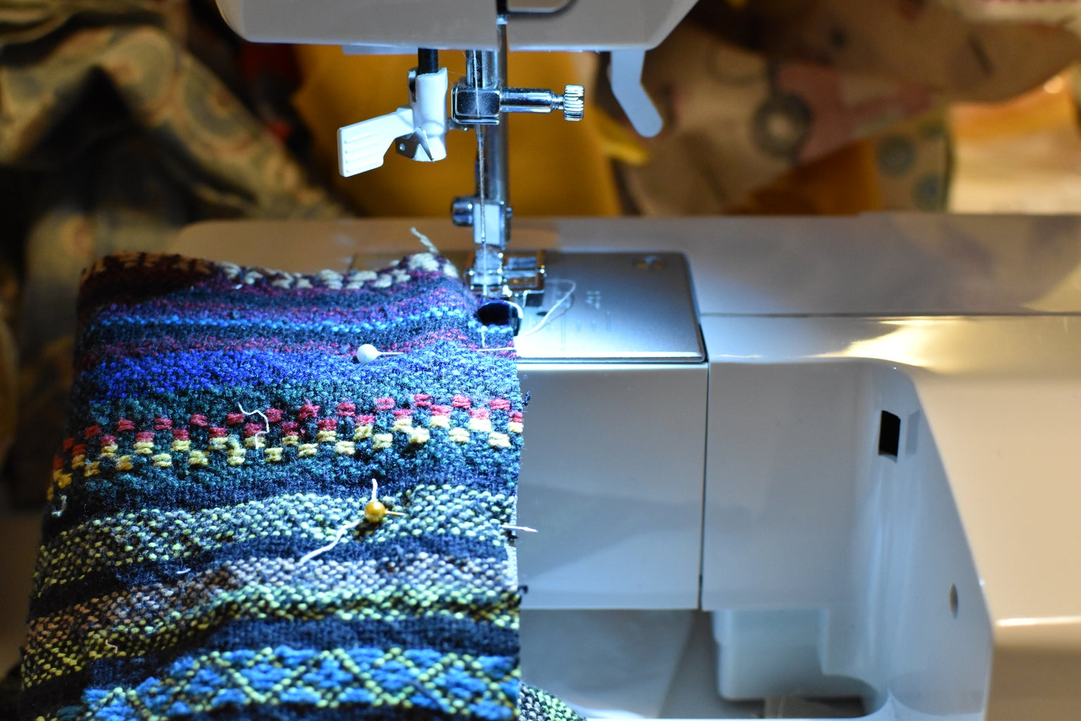 Sewing the Zipper to the First Two Rectangles