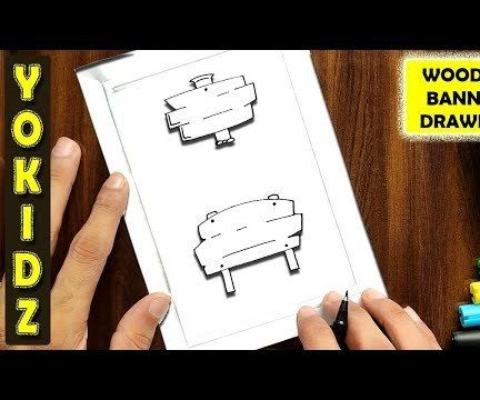 HOW TO DRAW a WOODEN SIGNBOARD