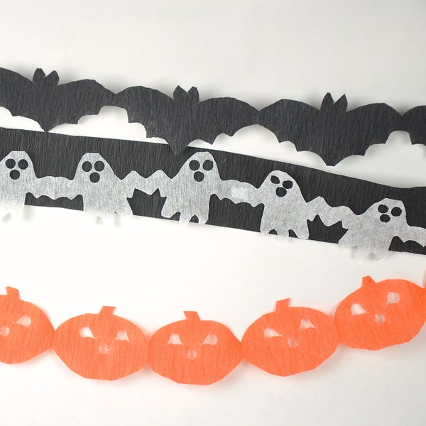 Easy Halloween Paper Chain Streamers