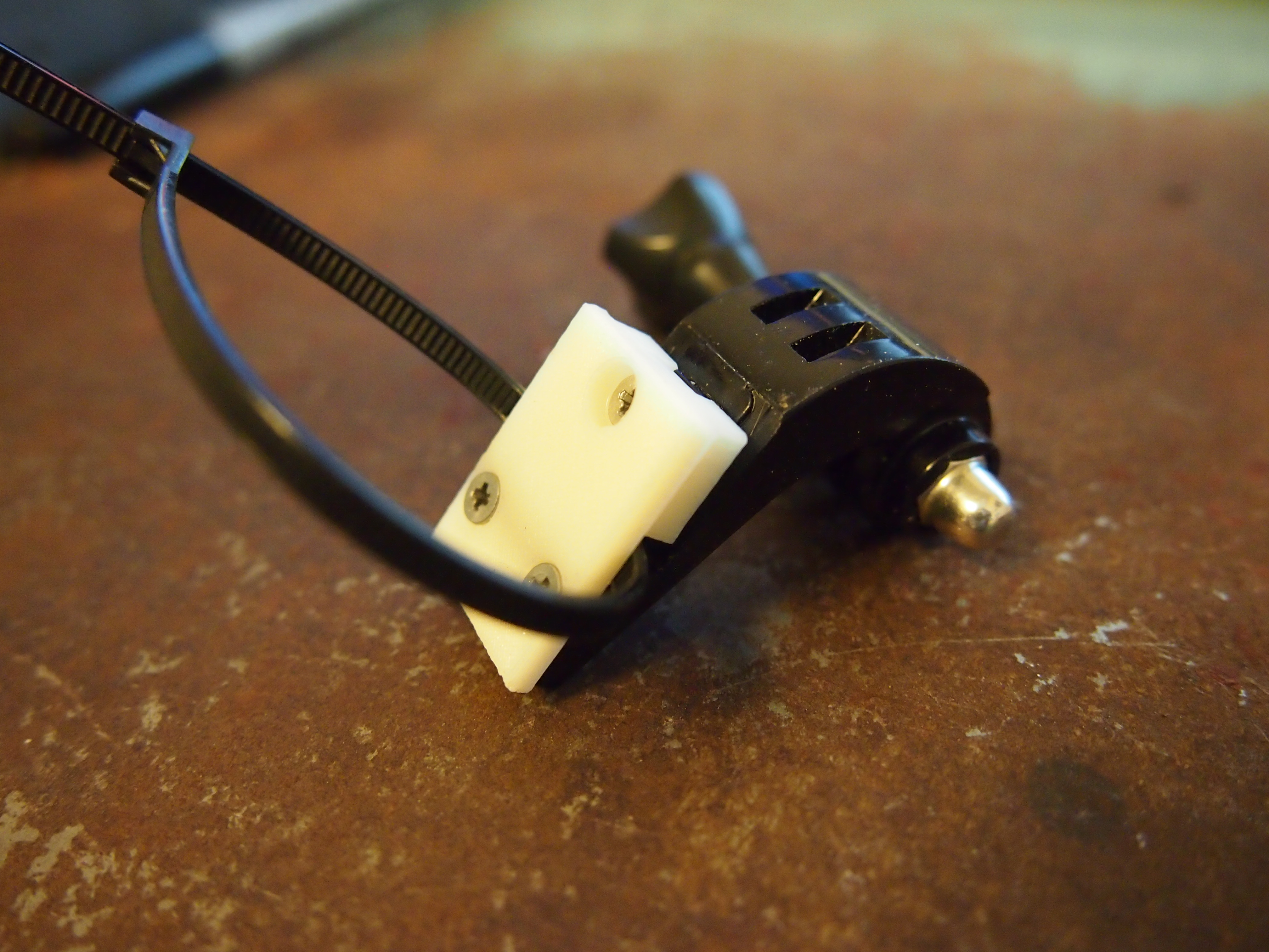 GoPro 3D Print  Zip Tie Mount