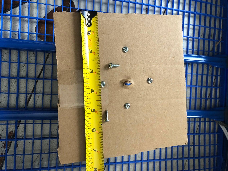"Cut 8"" X 8"" Cardboard Base"