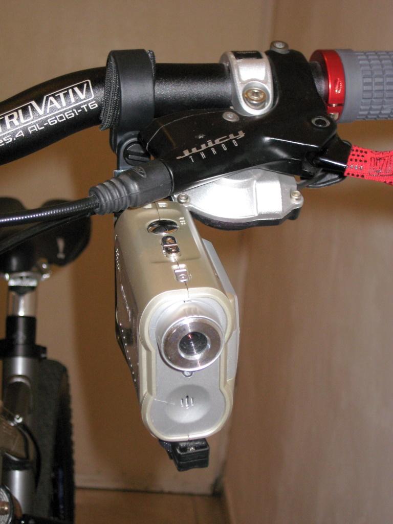 Under the handlebar camera mount