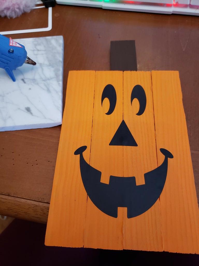 Glue on the Pumpkin Stem