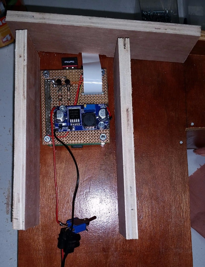 To Place the Camera, Light and Sensor Board