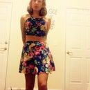 Open cut dress