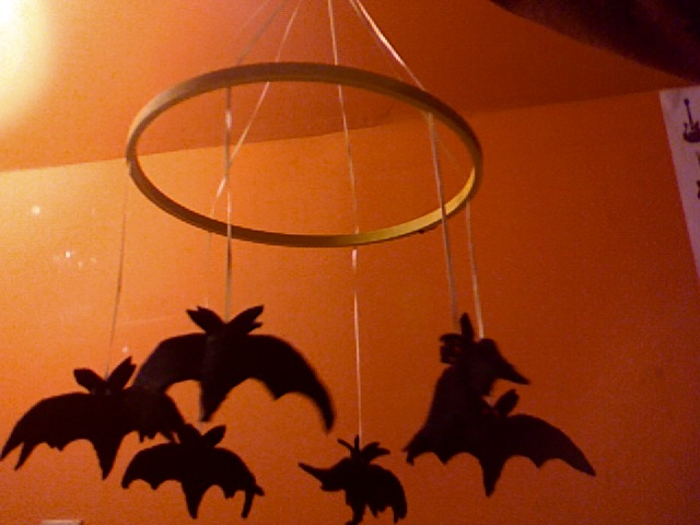 Bat-Mobile hanging toy, for babies and goths