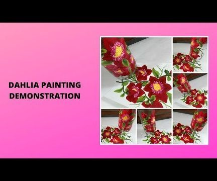 DAHLIA PAINTING DEMONSTRATION