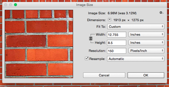 Open Images in PS and Resize