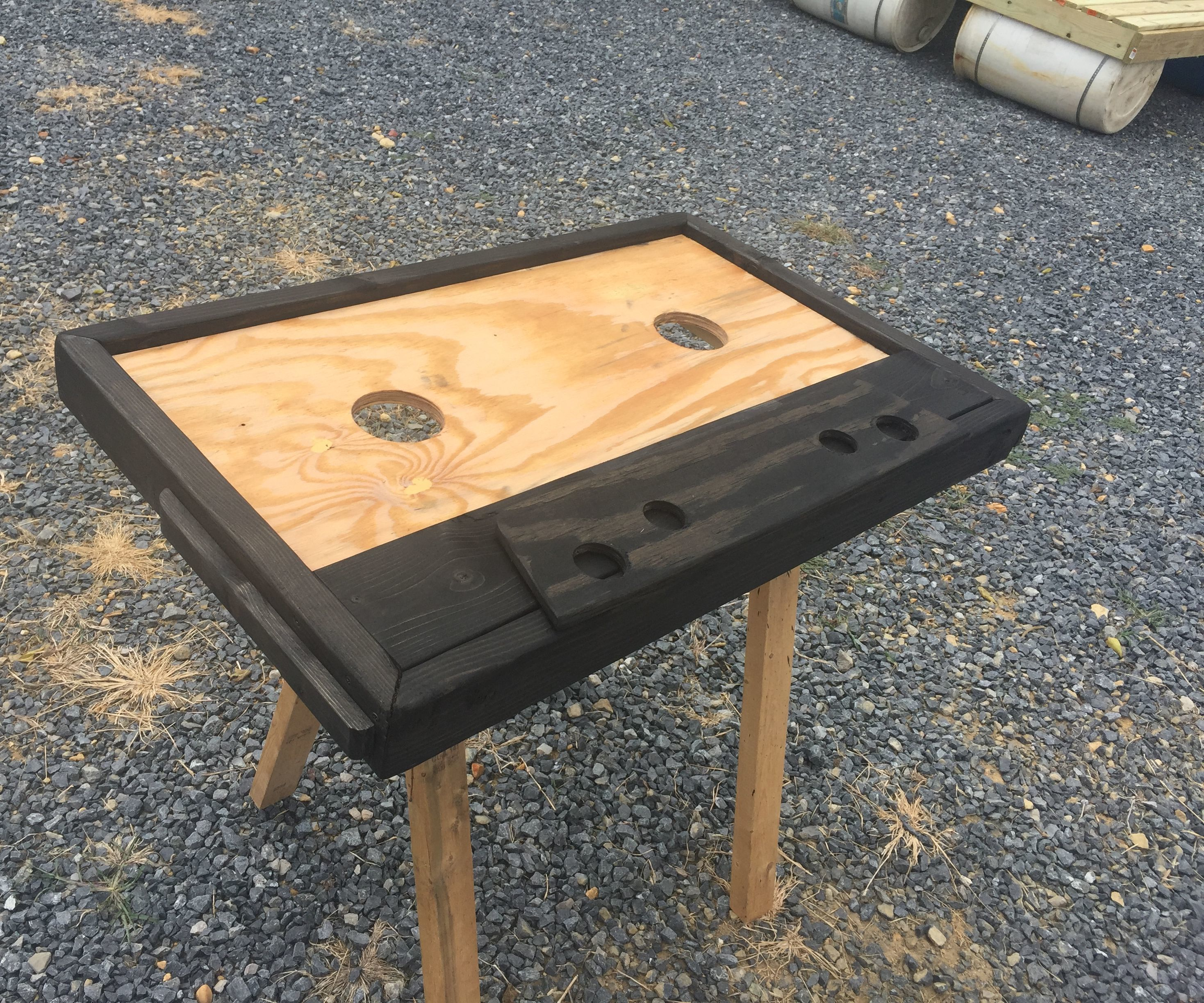 Retro Wooden Cassette Tape Coffee Table (for under $50!)