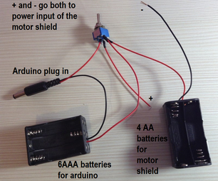 Tutorial of  a Powering Solution for an Arduino Controlled Robot Car (RC)