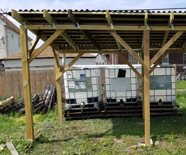 Rain Water Collection System (possible Greenhouse Frame)